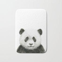 Baby Panda Watercolor Bath Mat