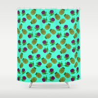 portugal Shower Curtains featuring Azores, Portugal by Golden Heart