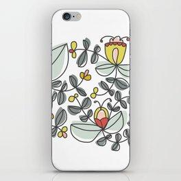 Watercolor Floral iPhone Skin
