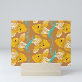 Koi Carp Pattern Mini Art Print