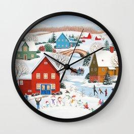 Snow Family Wall Clock