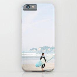Surfing in Enoshima   Kamakura Surf Beach   Surfer in Japan Catching Ocean Waves Photography iPhone Case