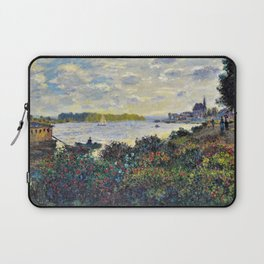 Red Poppies on the banks of the Seine at Argenteuil by Claude Monet Laptop Sleeve