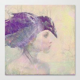 The witch crow Canvas Print