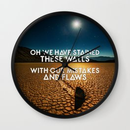 Bastille - These Streets #3 (Oh We Have Stained These Walls, With Our Mistakes And Flaws) Wall Clock