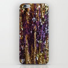 PURPLE AND GOLD iPhone Skin