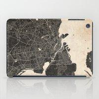 copenhagen iPad Cases featuring copenhagen map ink lines by NJ-Illustrations