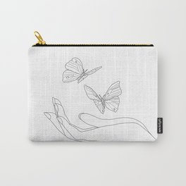 Butterflies on the Palm of the Hand Tasche