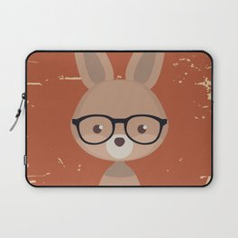 Hipster Bunny Laptop Sleeve