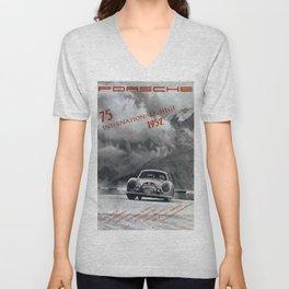 Vintage 1952 Racing Poster Unisex V-Neck