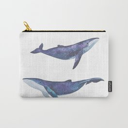 Three big space whales illustration Carry-All Pouch