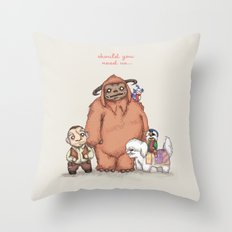 Should You Need Us... Throw Pillow