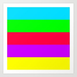 Neon Mix #2 Art Print