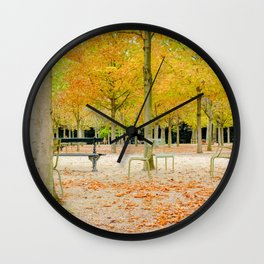 Paris Park in Autumn Luxembourg Wall Clock