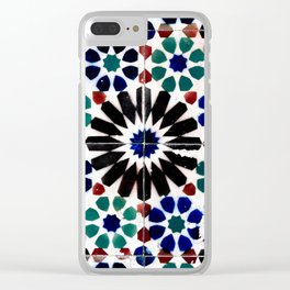 Time-worn tiles Clear iPhone Case
