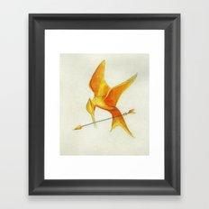 Mockingjay THGames Framed Art Print