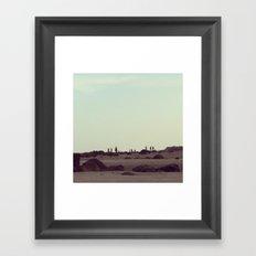 On the moon Framed Art Print
