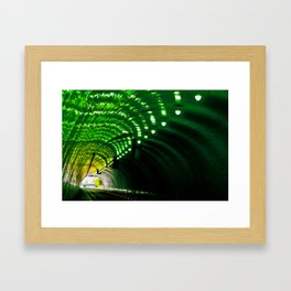 Lemon Lime Tunnel Framed Art Print