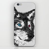 gray iPhone & iPod Skins featuring Gray wolf by Roland Banrevi
