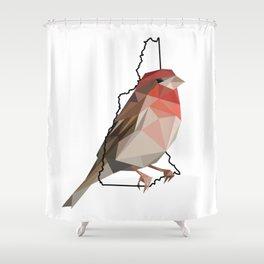 New Hampshire – Purple Finch Shower Curtain