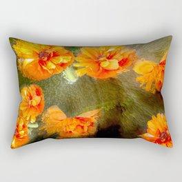 Orange poppy abstract Rectangular Pillow