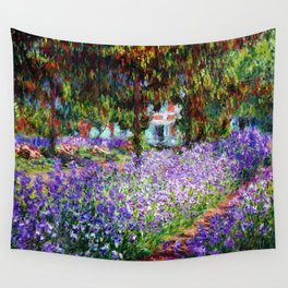 """Claude Monet """"Irises in Monet's Garden at Giverny"""", 1900 Wall Tapestry"""