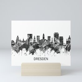 Dresden Germany Skyline BW Mini Art Print
