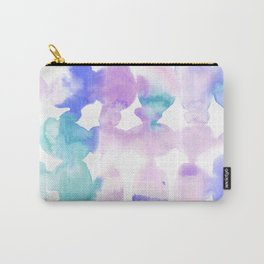 Dye Ovals Pink Turquoise Carry-All Pouch