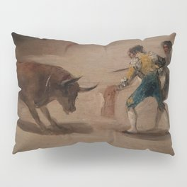 Bullfight in a Divided Ring Pillow Sham