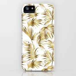 Golden palms iPhone Case