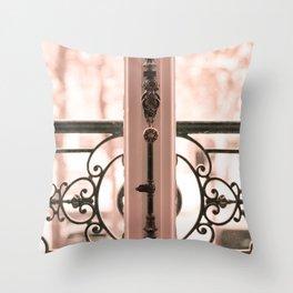 Paris in Blush Pink III Throw Pillow