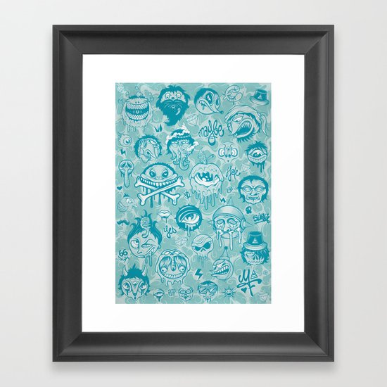 Characters Framed Art Print