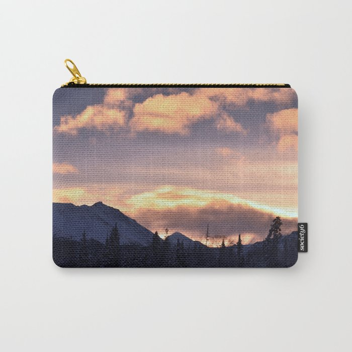 Flat Top Sunrise Serenity Rose Carry-All Pouch