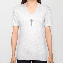 Cross - Gray Unisex V-Neck