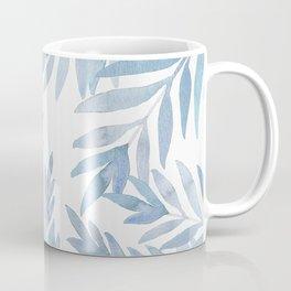 Muted Blue Palm Leaves Coffee Mug