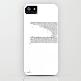 Erosion & Typography 3 iPhone Case