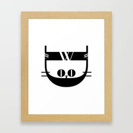 Bodoni Kitten Framed Art Print