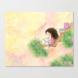 The Girl Who Wrote Stories Canvas Print
