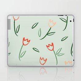Plants and Petals in vert Laptop & iPad Skin