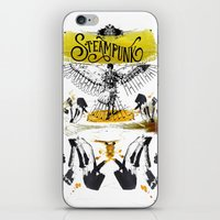 steampunk iPhone & iPod Skins featuring SteamPunk by Genco Demirer