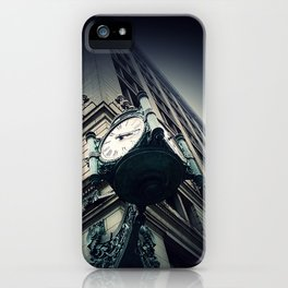 Chicago clock 1897 Marshall Fields Macy's on State Street iPhone Case