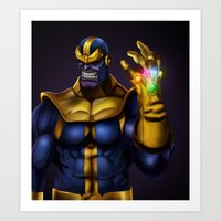 thanos Art Prints featuring Thanos - Marvel Villain Series by Eric Vasquez
