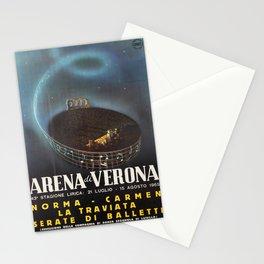 Affiche Travel Poster Opera Ballet Norma Carmen La Traviatta ENIT Italy Arena di Verona Stationery Cards
