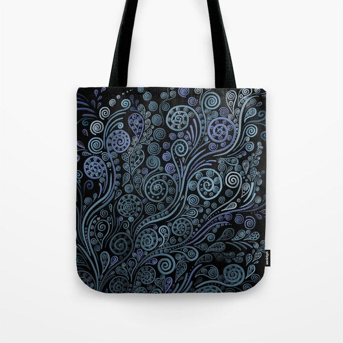 3D ornaments, blue Tote Bag