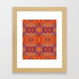 Boho Hippie Garden Pattern Framed Art Print