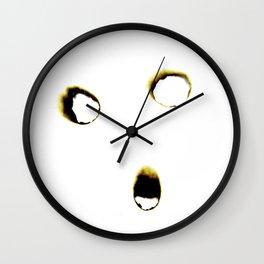 Everything will burn-Self Portrait Wall Clock