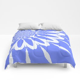 The Modern Flower Baby Blue & White Comforters