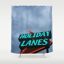 HOLIDAY LANES Shower Curtain