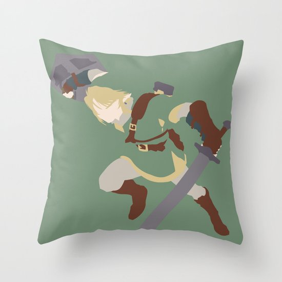 The Legend of Zelda - Link Throw Pillow by TracingHorses Society6