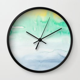 15   | Abstract Minimal Watercolor Painting | 191222 Wall Clock